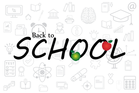 Pattern of welcome back to school. Back To School Background. Vector illustration.
