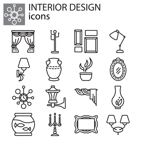 Web icons set - Interior design