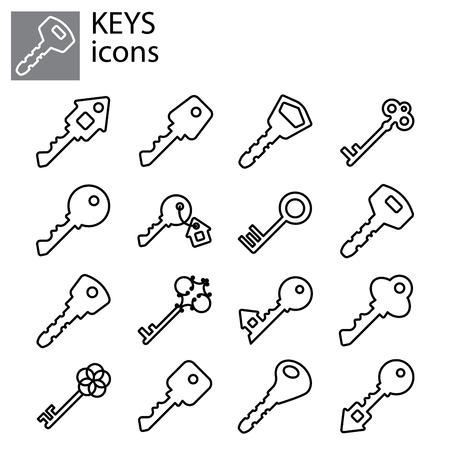 Web line set. Keys icon