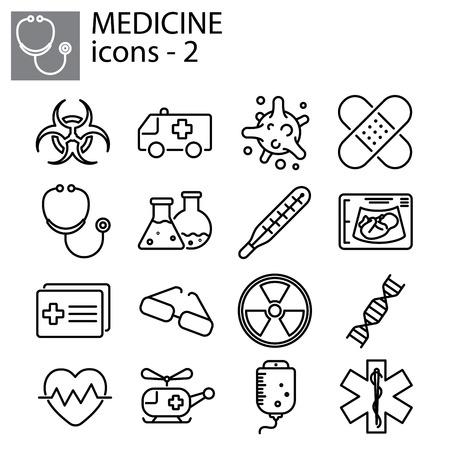 Web line set. Medicine illustration design Illustration