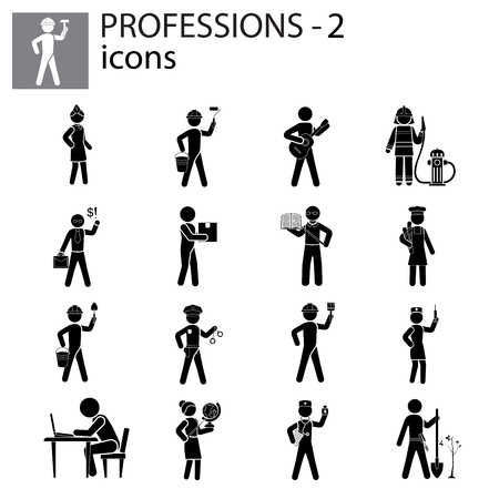 Profession icons set illustration design