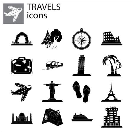 Travel Set illustration design