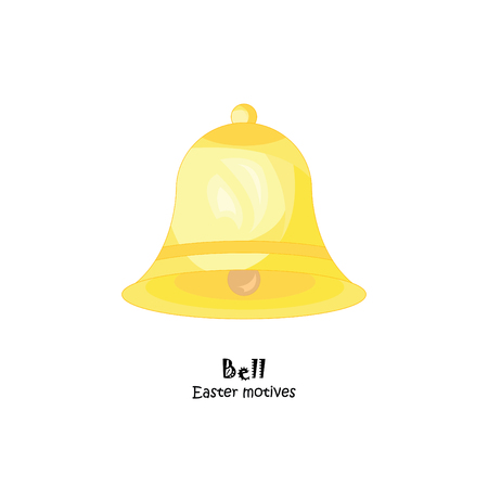 Colored Bell vector illustration. Illustration