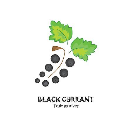 Black currant vector icon