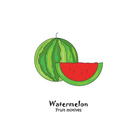 Watermelon colored vector illustration.