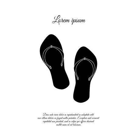 Flip Flops  black icon design 向量圖像