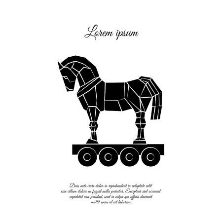 Trojan horse icon design 免版税图像 - 95955446