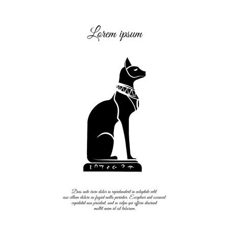 Egyptian cat icon design