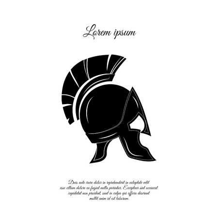Greek helmet icon design Illustration