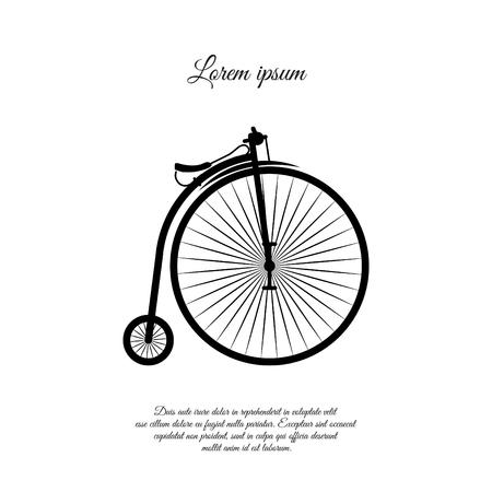 Penny-farthing icon design