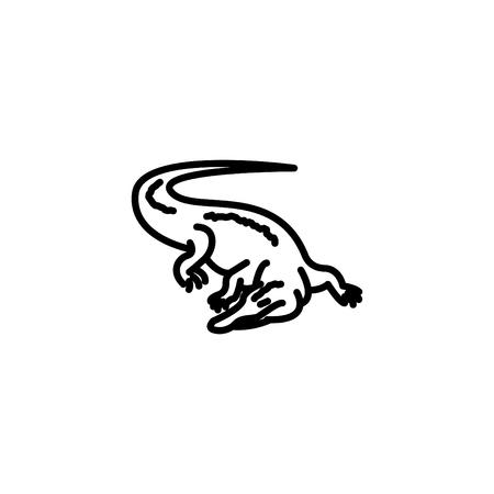 Web line icon. Alligator, crocodile; wild animals. Illustration