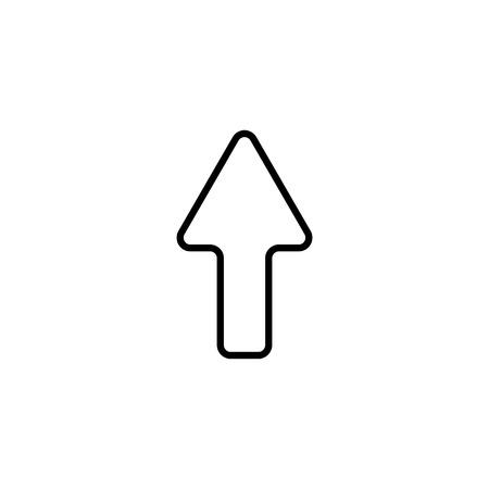 Web line icon. Arrow up.