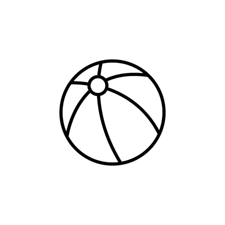 Web line icon. Children's ball, baby toy.