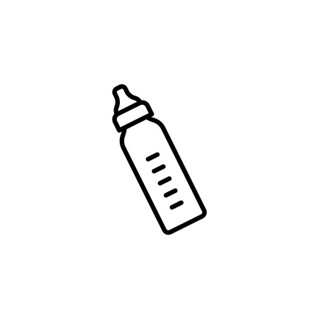 Web line icon. Baby bottle.