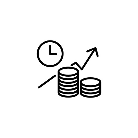 Web line icon. Business idea; The increase in profits (profitable investment).