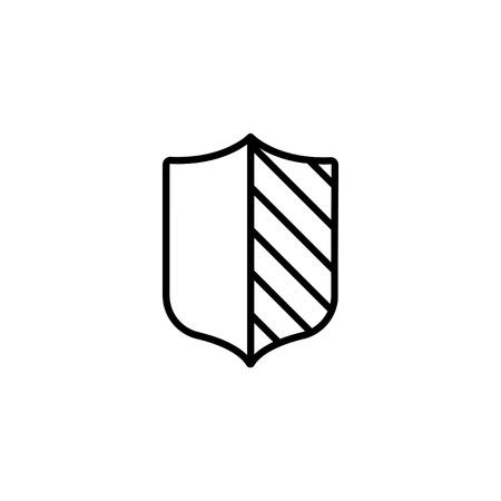 Shield Web line icon.