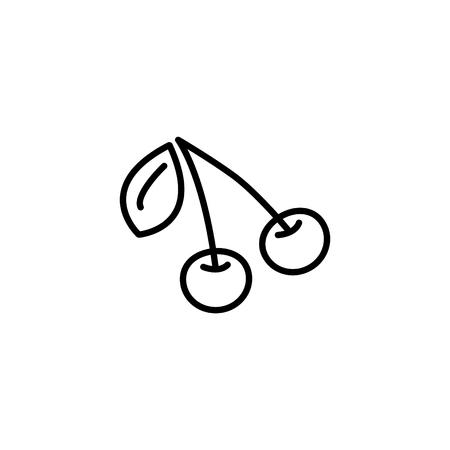 Web line icon. Cherry. Vettoriali
