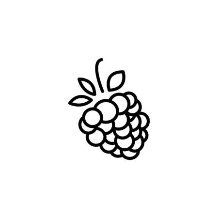 Web line icon. Raspberries. Illustration