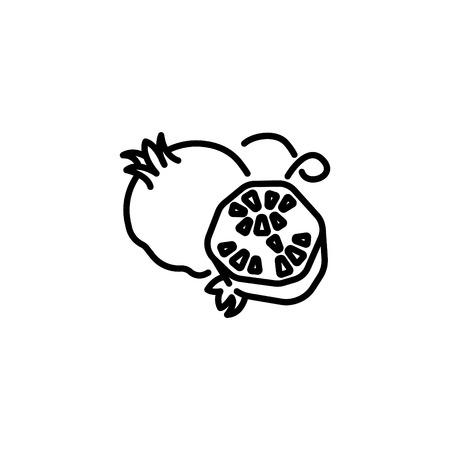 Web line icon. Garnet.