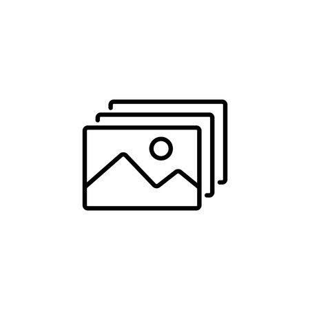 Web line icon. Gallery, design for website.
