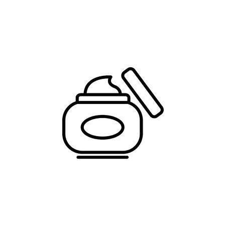 Web line icon. Hand cream, Face cream. Vettoriali