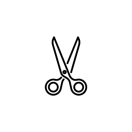 Web line icon. A Scissors. Illustration
