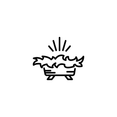 Web line icon. Christmas nursery, nativity scenes.