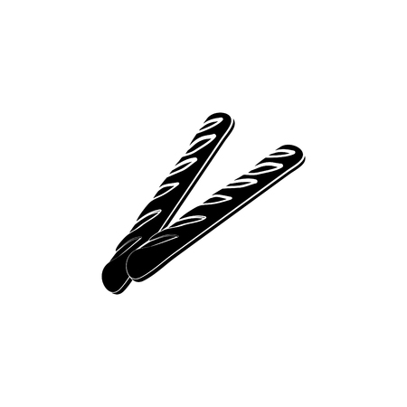 Baguette bread icon.