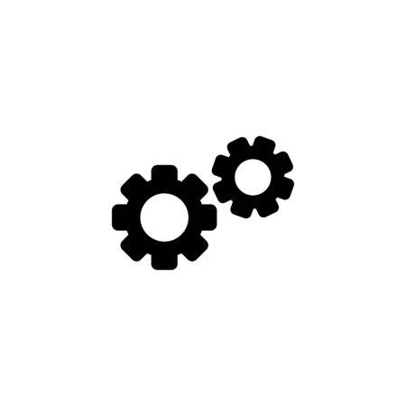 Web line icon, gears.