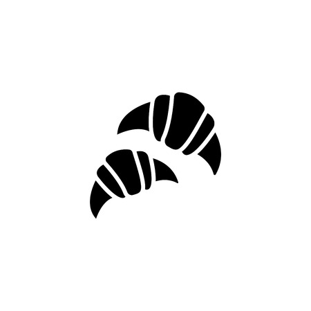 Web line icon, croissants.