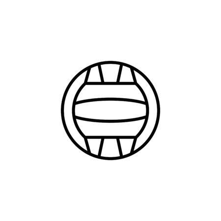 Web line icon, water polo. Illustration