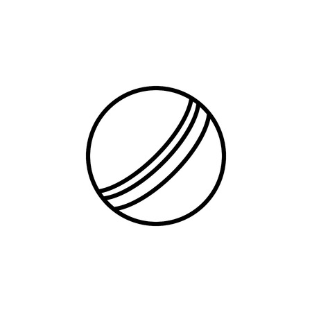 Web line icon, childrens ball. Ilustracja