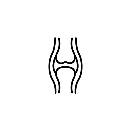 Web line icon, joint. Vectores
