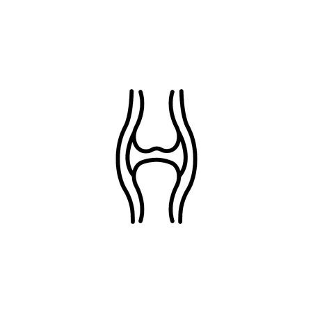 Web line icon, joint. Illustration