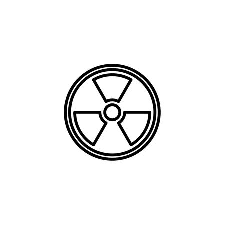 Web line icon, radiation hazard.