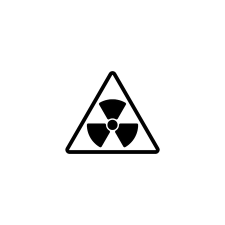 Web icon, radiation hazard.