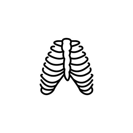 Web line icon, ribs.