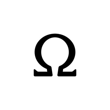 Web icon, omega symbol. 일러스트