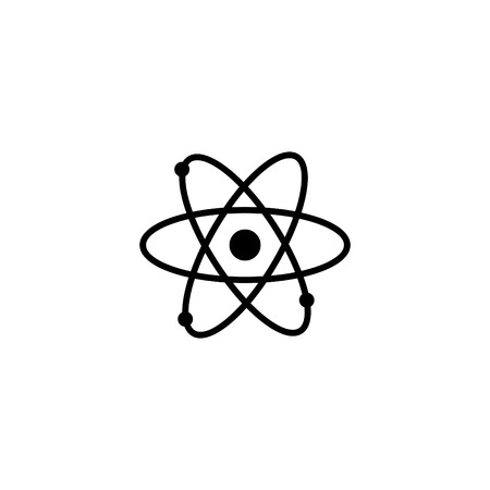 Web icon, atom vector illustration.