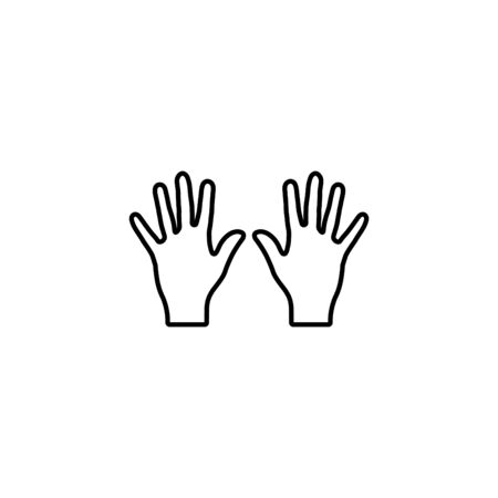 Web line icon, left and right hands, bunch of fives. 向量圖像