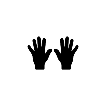 Web line icon, left and right hands, bunch of fives. Stock Illustratie