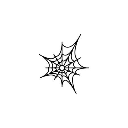 Web line icon, spiderweb, web icon. Illustration