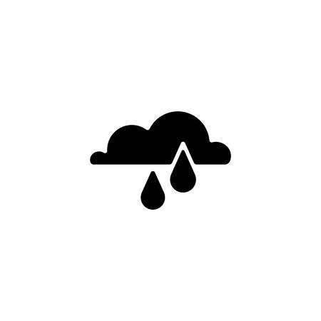 Web icon, rain and cloud.