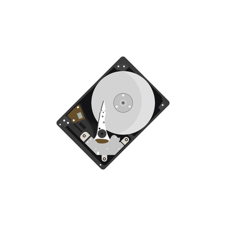 Color vector image, HDD, hard disk.
