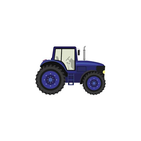 Color image, tractor. Illustration