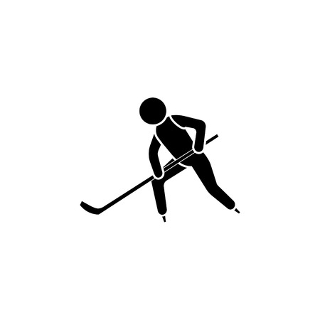Hockey player icon vector illustration. Vectores