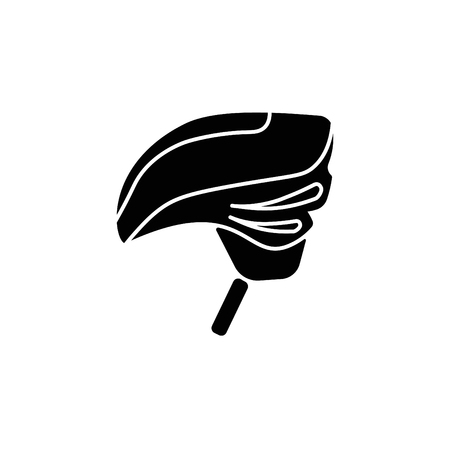 Bike helmet icon. Illustration