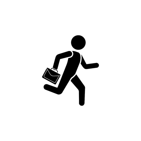 A man is running with a briefcase icon.
