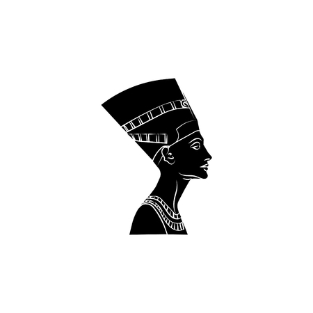 Nefertiti icon illustration