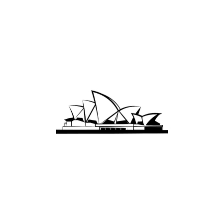 World Attractions. Opera House in Sydney. Opera House in Sydney, Sydney Opera House  イラスト・ベクター素材